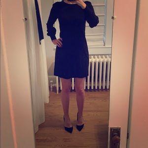 Black long sleeved sweater dress from LOFT